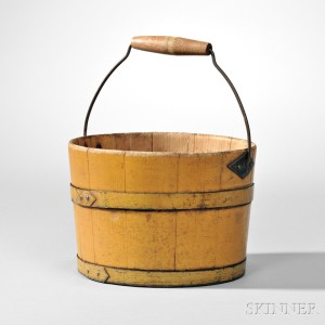 Shaker Yellow-painted Pail