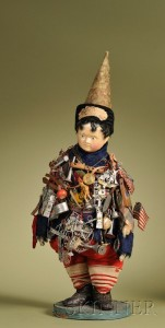Sold for: $14,220 - Important Kris Kringle Doll