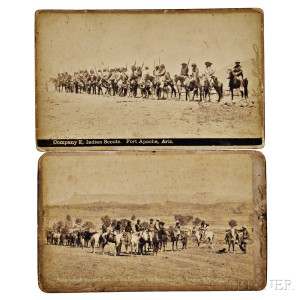 Two Photographs Taken at Fort Apache
