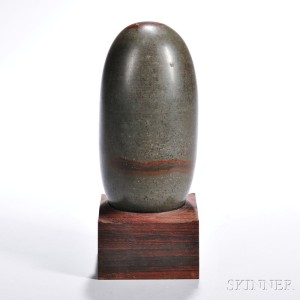 Large Shiva Lingam Stone Sculpture