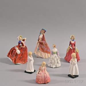 Seven Royal Doulton Figurines