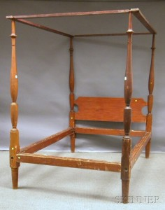 Century Furniture/Henry Ford Museum Federal-style Mahogany Pencil Post Bed with   Canopy