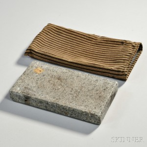 Shaker Soapstone Footwarmer with Cloth Cover