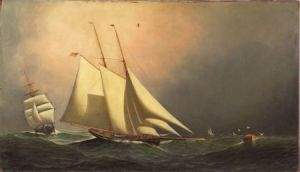 Sold for: $250,000 - Attributed to Antonio Jacobsen (Danish/American 1850-1921)