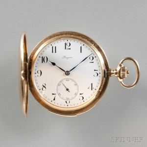 Longines Minute-repeating 14kt Gold Hunting Case Watch