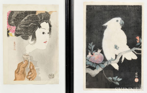 Two Color Woodblock Prints