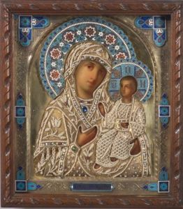 Sold for: $31,725 - Russian Painted Icon of the Hodigitria Mother of God