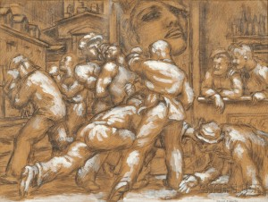 Jared French (American, 1905-1987)      Street Fight