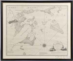 Salem Harbor. Nathaniel Bowditch (1773-1838) Chart of the Harbours of Salem, Marblehead, Beverly and Manchester.