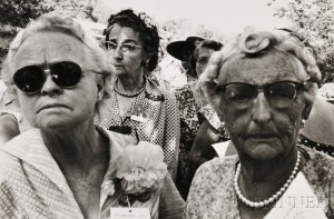 Sold for: $3,198 - Robert Frank (Swiss, b. 1924)      Group of Ladies, Possibly California