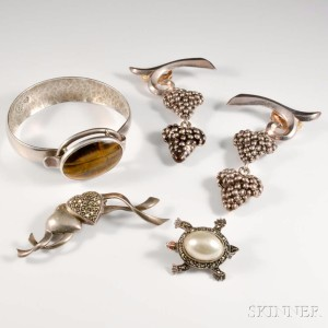 Five Pieces of Sterling Silver Jewelry