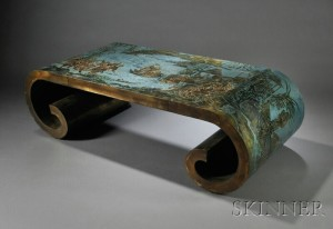 Sold for: $21,600 - Philip & Kelvin LaVerne Coffee Table