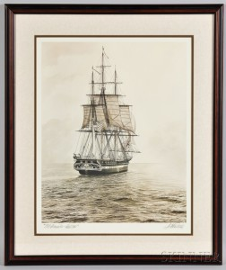 Artist Signed Old Ironsides - Sail 200 Print