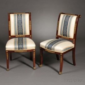 Two Empire Style Side Chairs