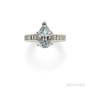 Sold for: $543,000 - Blue Diamond Solitaire