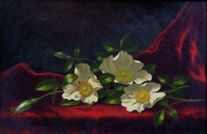 Sold for: $402,000 - Martin Johnson Heade (American, 1819-1904)    Still Life with Cherokee Roses