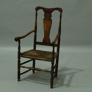 Queen Anne Country Maple Armchair