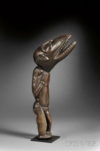 Sold for: $8,295 - Polynesian Carved Wood