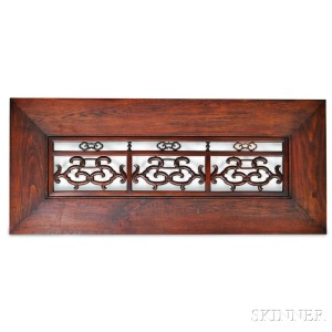 Large Carved Wood Architectural Panel or Transom