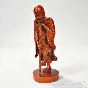 Wood Carving of a Luohan