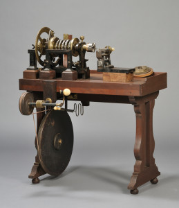 Sold for: $15,405 - Brass and Steel Rose Engine