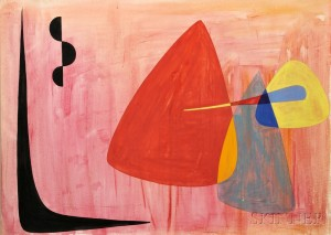Alexander Calder (American, 1898-1976)      Untitled Abstract Composition