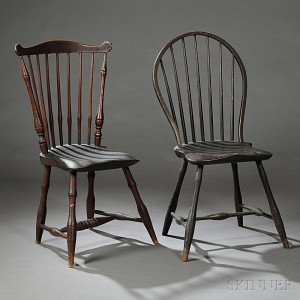 Two Painted Windsor Chairs