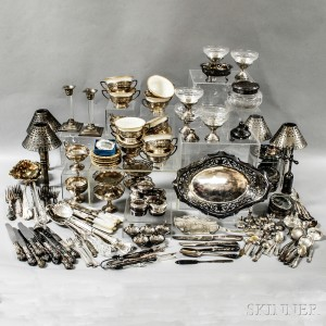 Group of Assorted Sterling Silver and Silver-plated Tableware