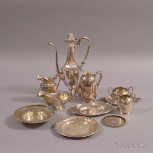 Eleven Pieces of Sterling Silver Hollowware