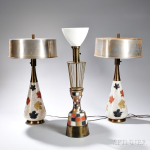Three Mid-century Modern Table Lamps