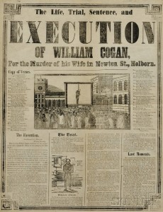 Execution Broadsides, Three Examples, London, Mid-19th Century.
