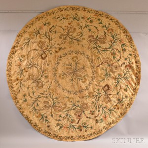 Round Crewelwork Table Cover