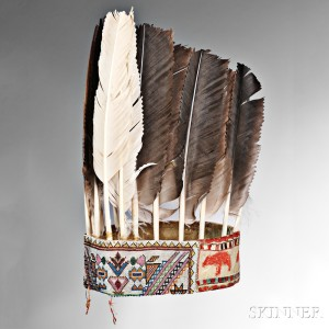 Sold for: $67,650 - Rare and Important Eastern Ojibwa (Saulteau) War Chief