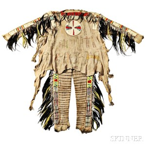 Sold for: $663,000 - Rare and Important Blackfeet Chief