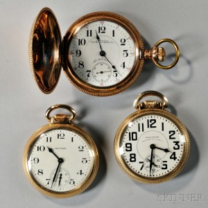 """Waltham """"Railroad Special"""" and Two Vanguard Open-face Watches"""