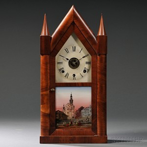 "Chauncey Boardman Triple Fusee Sharp Gothic or ""Steeple"" Clock"