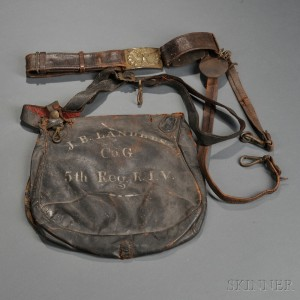 Identified Fifth Rhode Island Commercial Haversack and Belt