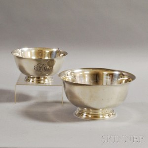 Two Sterling Silver Revere Reproduction Bowls