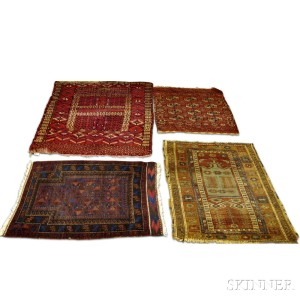 Two Turkoman Rugs, a Baluch Prayer Rug, and a Turkish Ladik Prayer Rug
