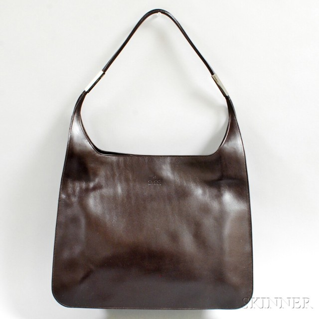 fd8634a59dca gucci chocolate brown leather tote bag sale number 2887t lot 1537 skinner  auctioneer.