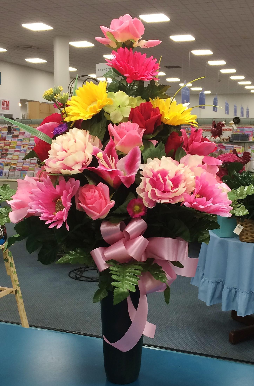 Silk Sympathy Urn, Feminine - Chesapeake, VA Florist
