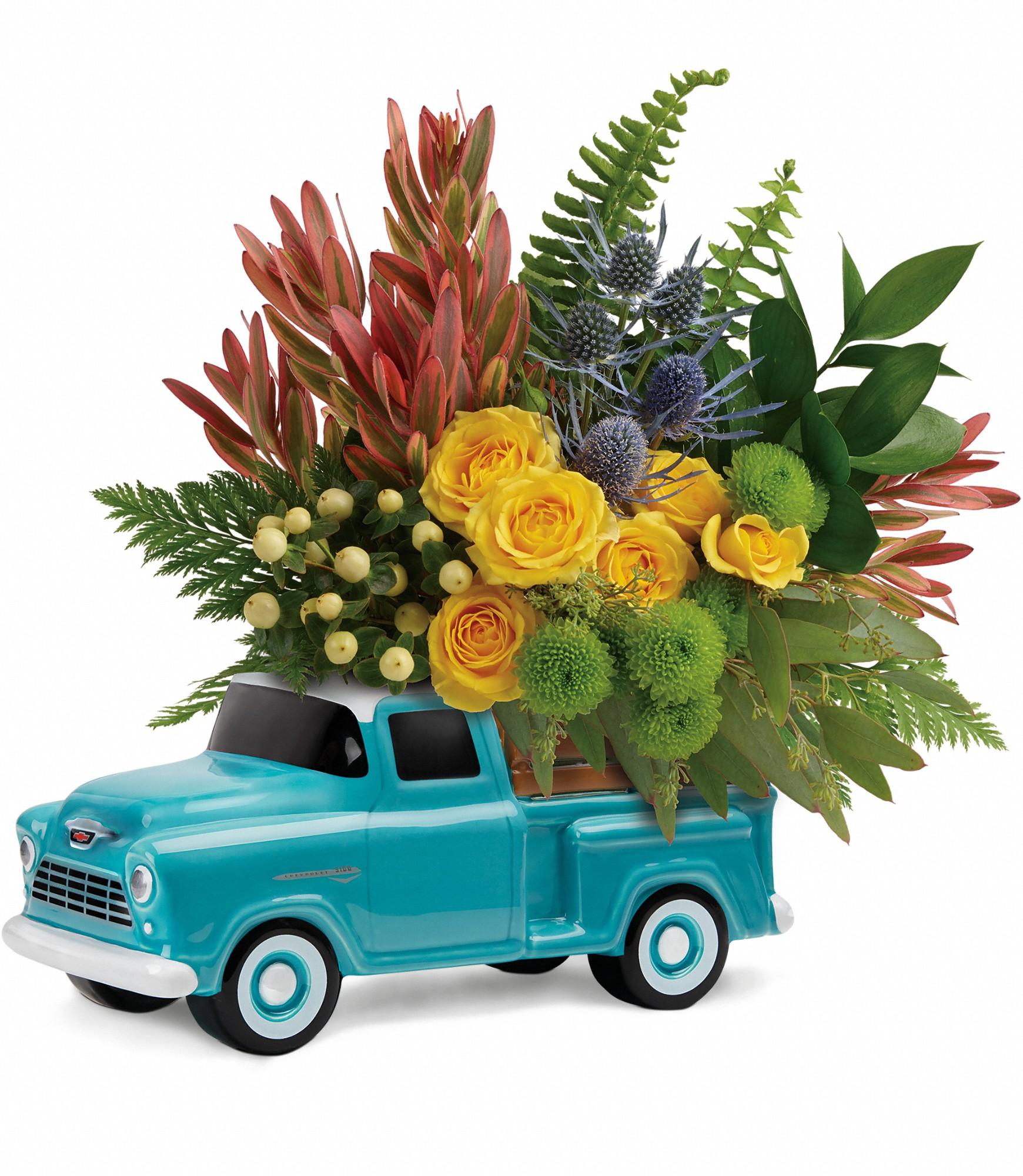 Telefloras Chevy Pickup Bouquet Brandon Mb Florist