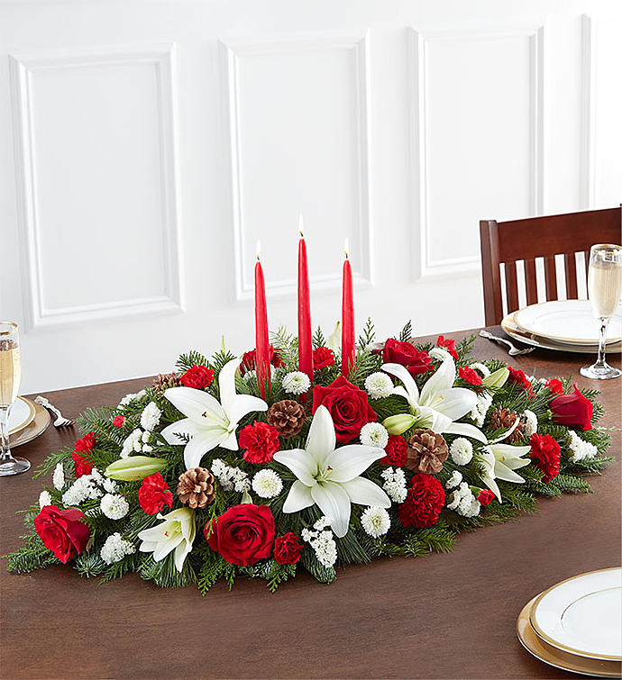 Traditional Christmas Centerpiece Xl Charlotte Nc Florist