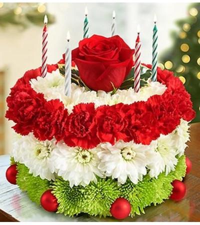 Birthday Flower Cake for The Holidays Philadelphia PA Florist