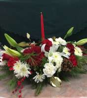 Lily Christmas Centerpiece