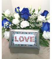 Blue & White Music Box