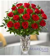 Eighteen Red Roses in Marquis by Waterford® Vase