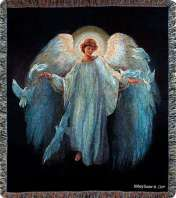 MESSENGER OF PEACE ANGEL  MEMORIAL THROW