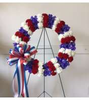 Patriotic Sympathy Wreath