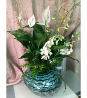 Peace Lily Hand Blown Design
